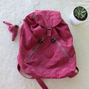 Kipling Medium Berry Pink Backpack